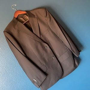 VALENTINO Roma Pinstripe Tailored Wool Blazer 48